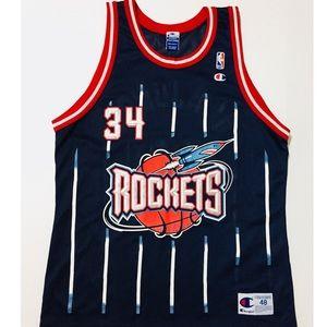 47df421edf0 Champion Shirts - Vintage 90s Champion Houston Rockets Jersey